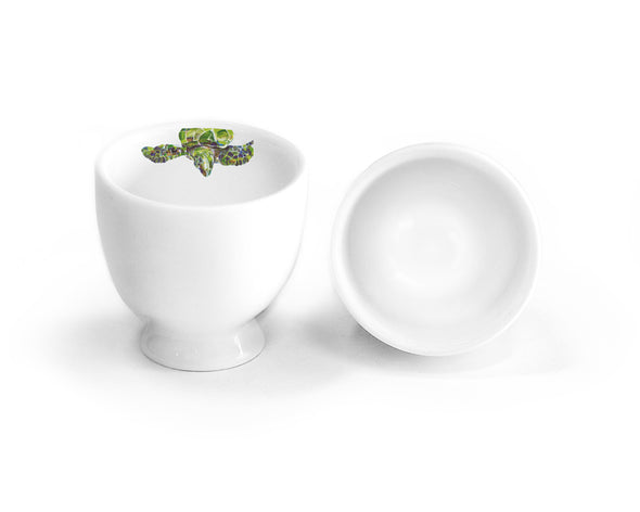 Green Sea Turtle Teapot with Two Round Cups