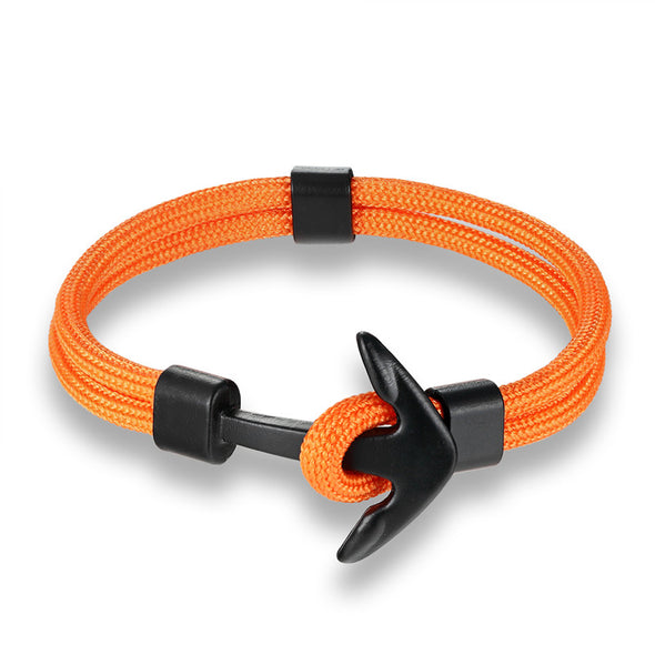 Ocean Life Nautical Anchor Bracelet - Color: Orange