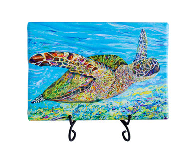 Lonas Sea Turtle aka Breezin By Mini Giclee