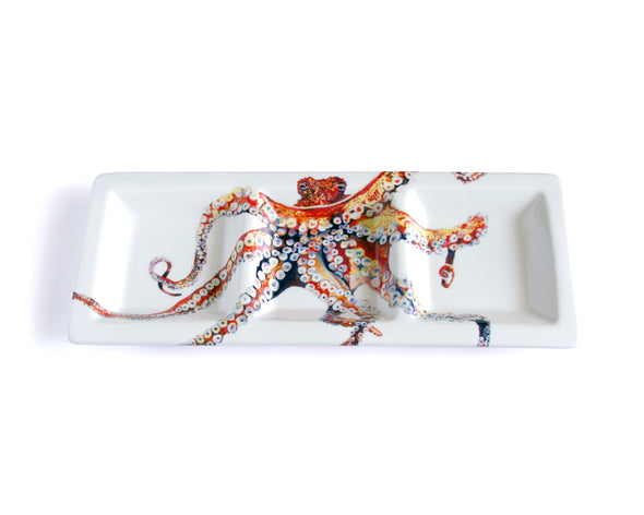 Octopus Large Rectangular Tri-Dish