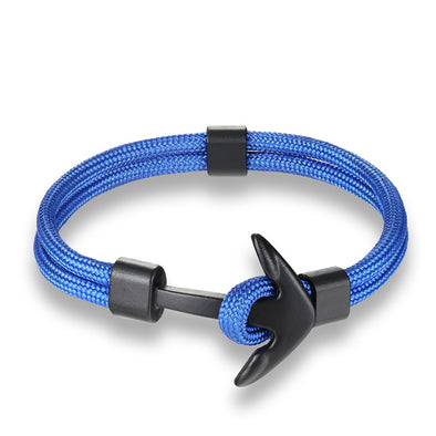 Ocean Life Nautical Anchor Bracelet - Color: Blue