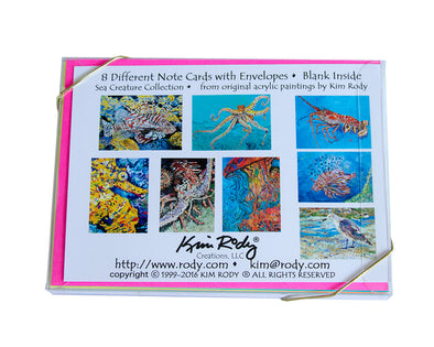 Sea Creature Series Note Card Collection
