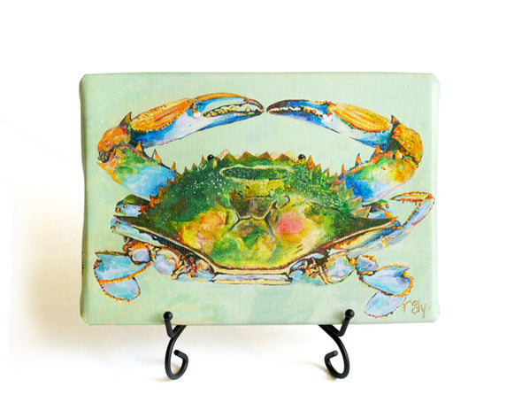 Nit Picker Blue Crab Mini Giclee