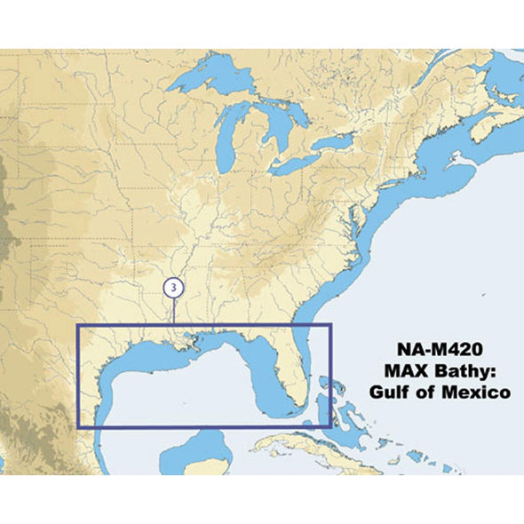 C-Map NA-M420 Gulf of Mexico Bathy Chart - C-Card