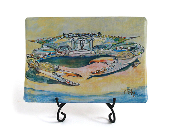 On Da Beach Blue Crab Mini Giclee