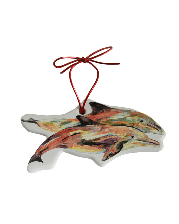 Pair of Dolphins Ornament