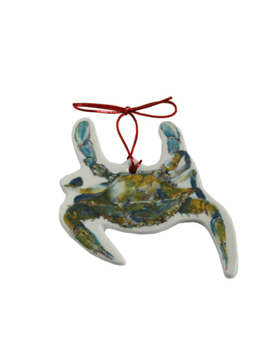 Beautiful Swimmer Blue Crab Ornament