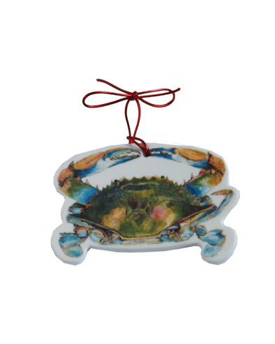 Nitpicker Blue Crab Ornament