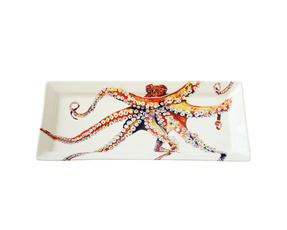 Out of the Blue Octopus Large Rectangular platter