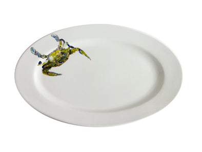 Beautiful Swimmer- Blue Crab Medium Oval Platter