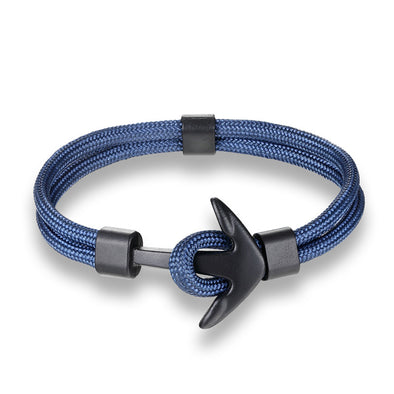 Ocean Life Nautical Anchor Bracelet - Color: Deep Blue