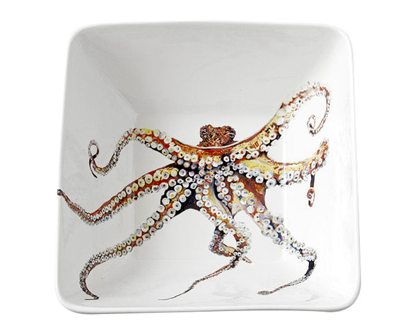 Octopus Extra Large Square Bowl