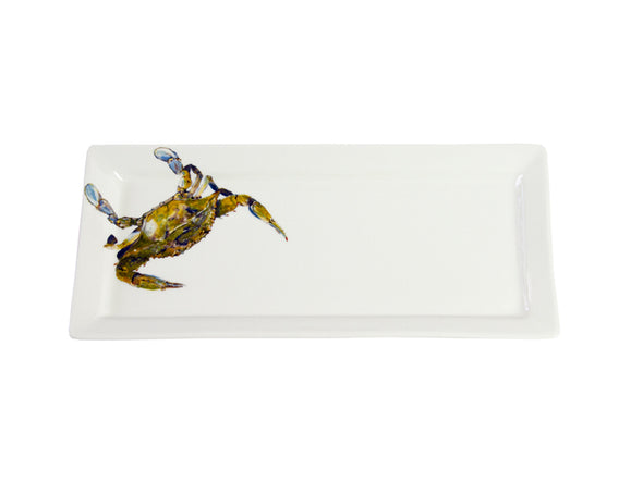Beautiful Swimmer Blue Crab Rectangular platter