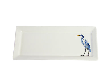 White Egret Rectangular platter