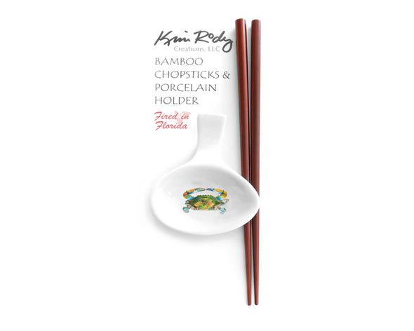 Nit Picker Blue Crab Chopstick Set
