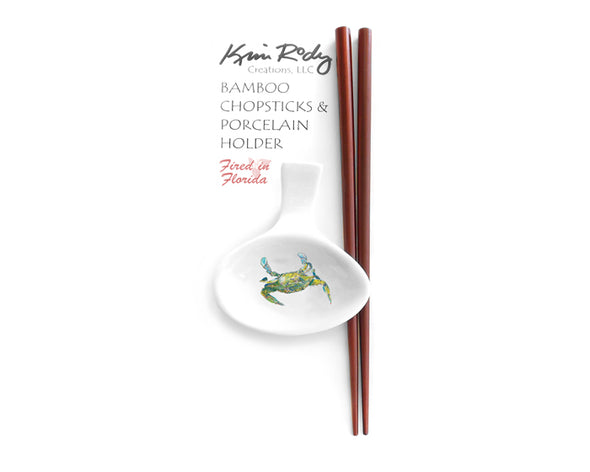 Beautiful Swimmer Blue Crab Chopstick Set