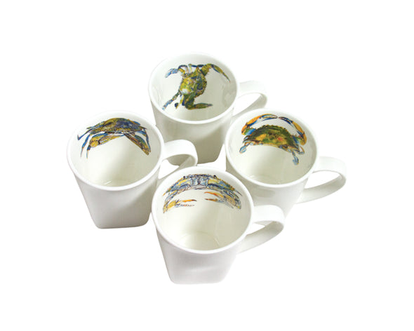 Blue Crab Mug Set