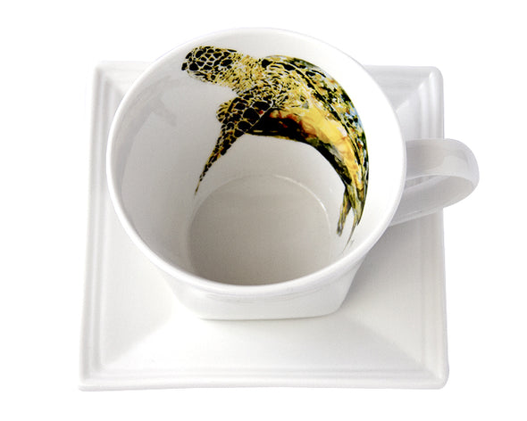 Doreens Sea Turtle Tea Cup and Saucer