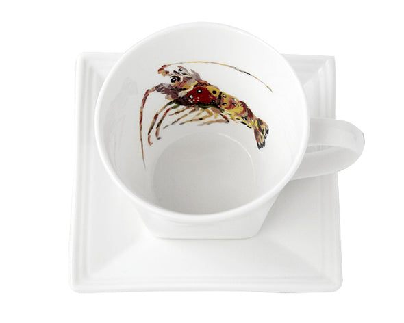 Lobster Tea Cup and Saucer