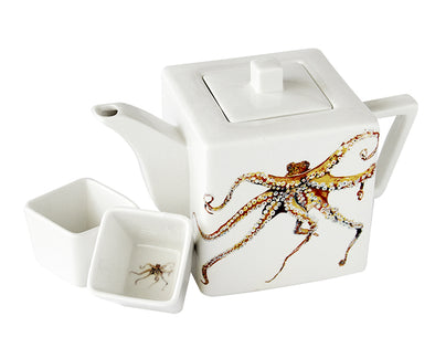 Octopus Teapot with Two Square Cups