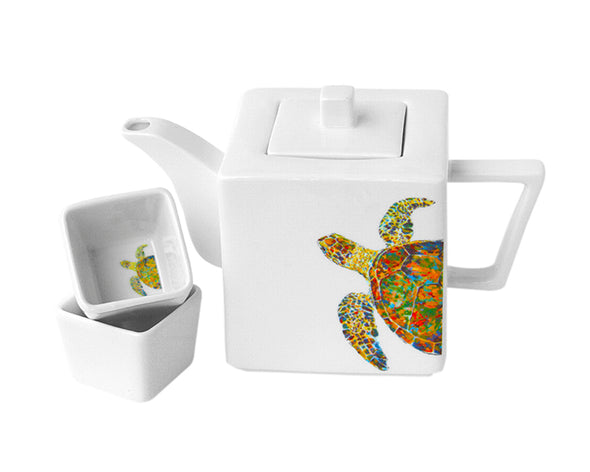 Navigator teapot with Two Square Cups