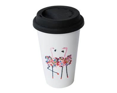 Flamingo Twins Travel Mug