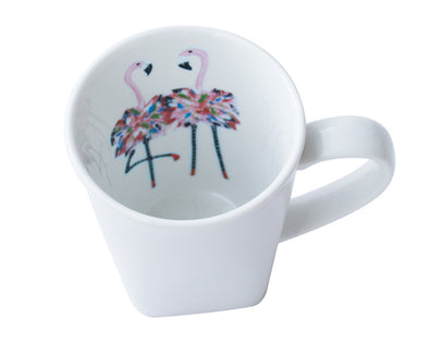 Flamingo Twins Square Mug