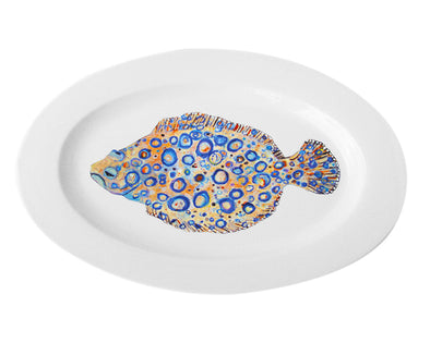 Peacock Flounder Extra Large Oval Platter