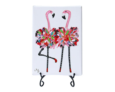 Flamingo Twins Mini Giclee