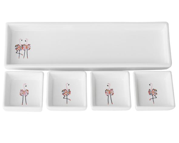 Flamingo Singles and Twins Cracker and Dip Set