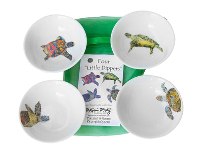 Reef Time Sea Turtle Set of Four Little Dippers