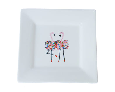 Flamingo Twins Salad Plate