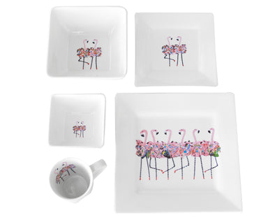 Flamingo 5-Piece Place Setting