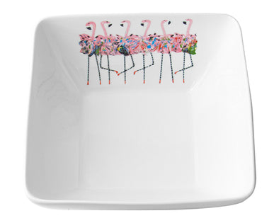 Flamingo Chorus Line Extra Large Square Bowl