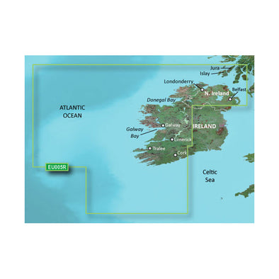 Garmin BlueChart® g3 HD - HEU005R - Ireland, West Coast - microSD™/SD™