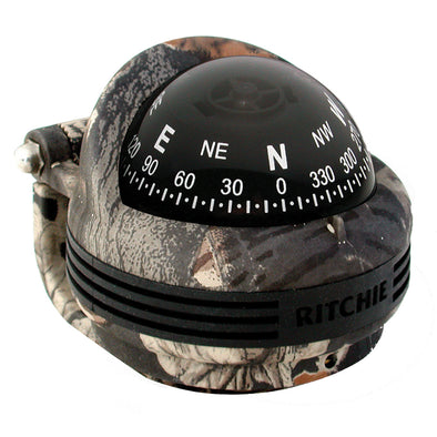 Ritchie TR-31B Trek Compass - Bracket Mount - Break-Up Camo