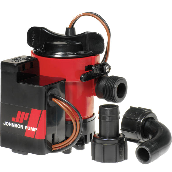 "Johnson Pump 750GPH Auto Bilge Pump 3/4"" Hose Mag Switch 12V"