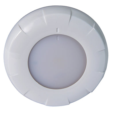 Lumitec Aurora LED Dome Light - White Finish - White/Blue Dimming