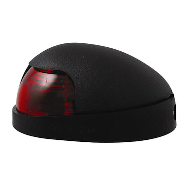 Attwood Quasar™ 2-Mile Deck Mount, Red Sidelight - 12V - Black Housing