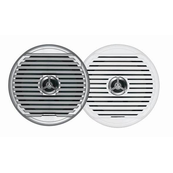 "JENSEN  MSX65R 6.5"" High Performance Coaxial Speaker - (Pair) White/Silver Grills"