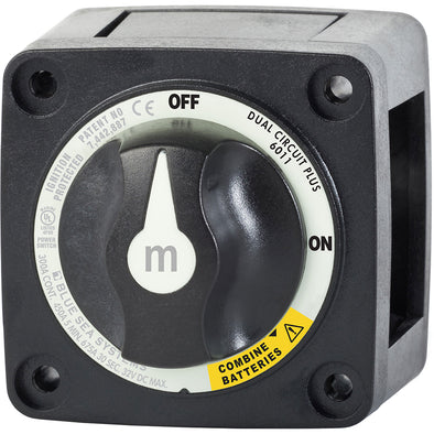 Blue Sea 6011200 m-Series Battery Switch Dual Circuit Plus - Black