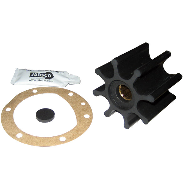 "Jabsco Impeller Kit - 8 Blade - Neoprene - 2-9/16"" Diameter x 2"" W, 5/8"" Shaft Diameter"