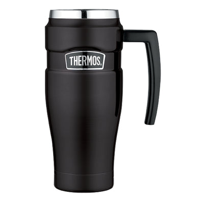 Thermos Stainless King™ Vacuum Insulated Travel Mug - 16 oz. - Stainless Steel/Matte Black