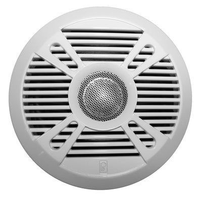 "Poly-Planar MA7050 5"" 2-Way Marine Speaker w/2 Grills - White & Graphite"