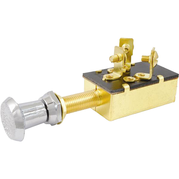 Attwood Push/Pull Switch - Three-Position - Off/On/On