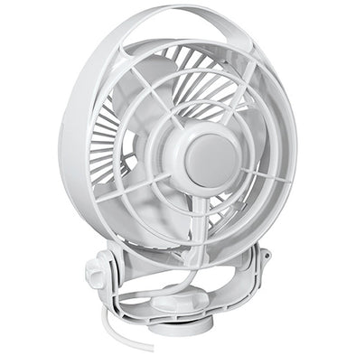 "Caframo Maestro 12V 3-Speed 6"" Marine Fan w/LED Light - White"