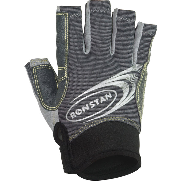Ronstan Sticky Race Gloves w/Cut Fingers - Grey Small
