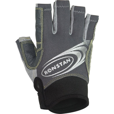 Ronstan Sticky Race Gloves w/Cut Fingers - Grey - X-Large
