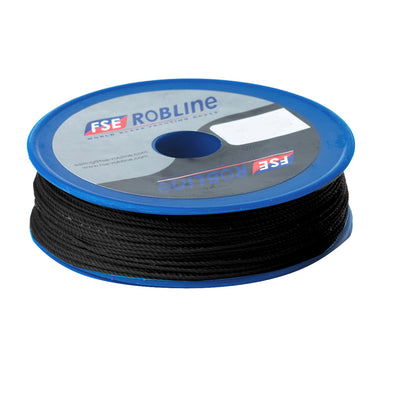 Robline Waxed Tackle Yarn Whipping Twine - Black - 0.8mm x 80M