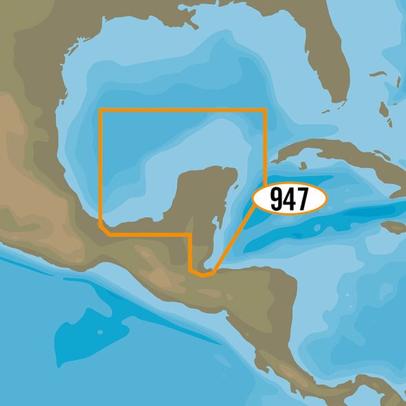 C-MAP MAX-N+ NA-Y947 - Coatzacoalcos, MX to Honduras Bay, GT
